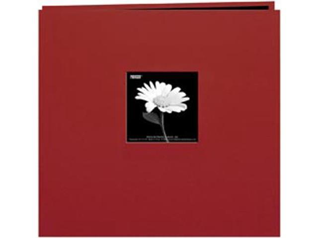"Book Cloth Cover Postbound Album With Window 12""X12""-Burgundy"