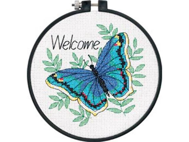 Learn-A-Craft Welcome Butterfly Counted Cross Stitch Kit-6