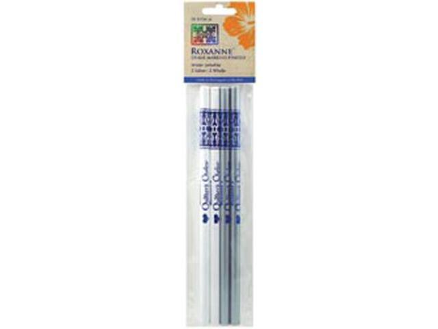 Water Soluble Chalk Marking Pencils 4/Pkg-2 Each -White & Silver