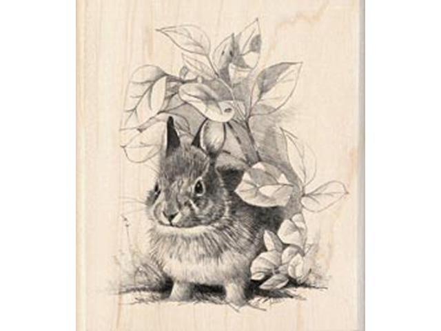 Inkadinkado Wood Mounted Rubber Stamp-Bunny Retreat