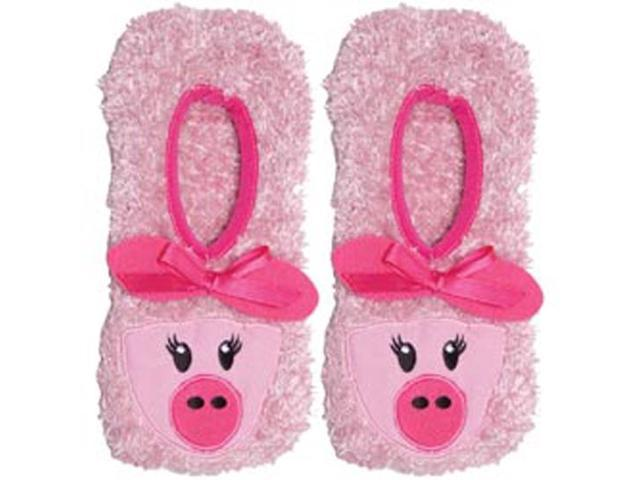 Novelty Slippers-Pink Pig