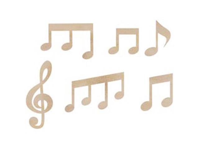 Wood Flourishes-Music Notes 6/Pkg