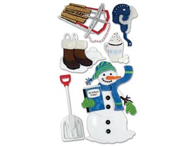 Jolee's Boutique Le Grande Dimensional Sticker-Snow Day