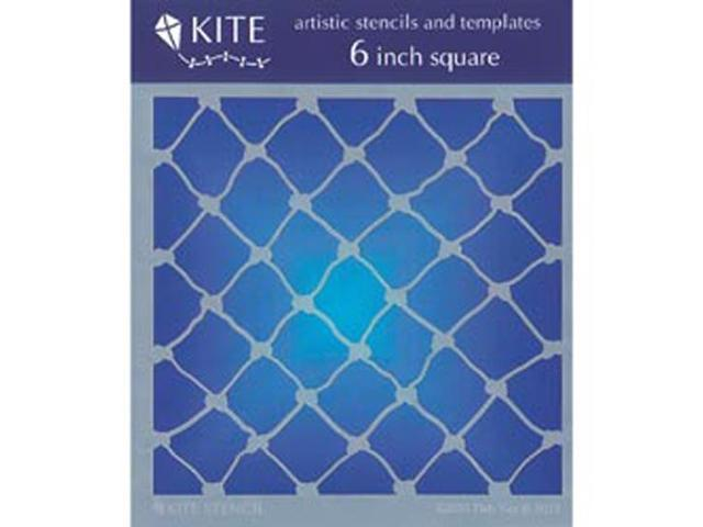 Judikins 6 Inch Square Kite Stencil-Fish Net
