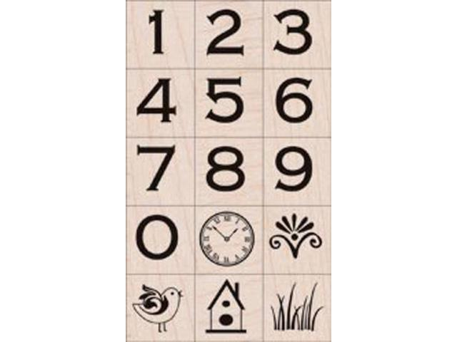 Hero Arts Mounted Rubber Stamp Set-Copperplate Numbers