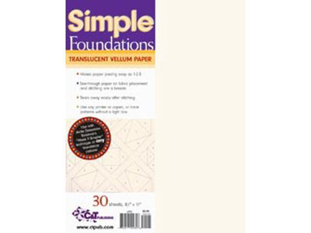Simple Foundations Translucent Vellum Paper-8-1/2