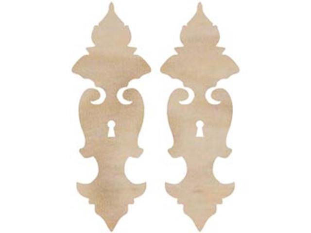 Wood Flourishes-Ornate Locks 2/Pkg
