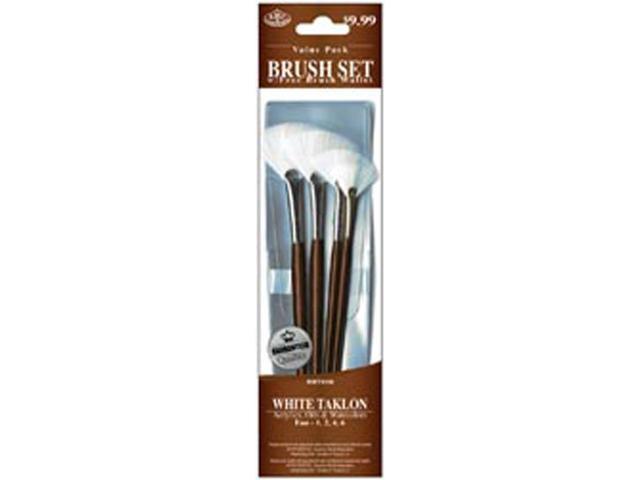 Brush Set Value Pack White Taklon 4/Pkg-Fan 1,2,4,6