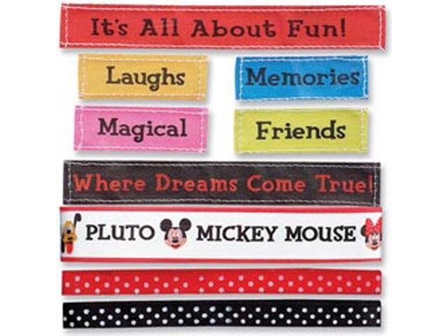 Mickey Ribbons & Adhesive Labels 9-Piece Set-