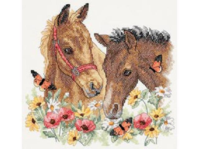 Horse Friends Stamped Cross Stitch Kit-12