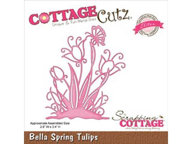 CottageCutz Elites Die-Bella Spring Tulip