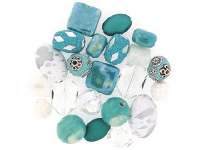 Inspirations Beads 50 Grams-Sea Breeze