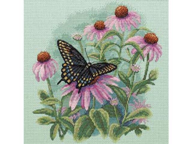 Butterfly & Daisies Counted Cross Stitch Kit-11
