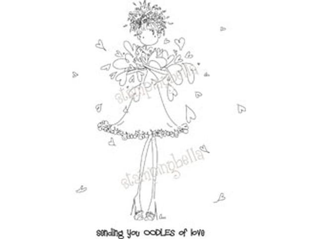 Stamping Bella Unmounted Rubber Stamp-Uptown Girl Lucille Sends Her Love