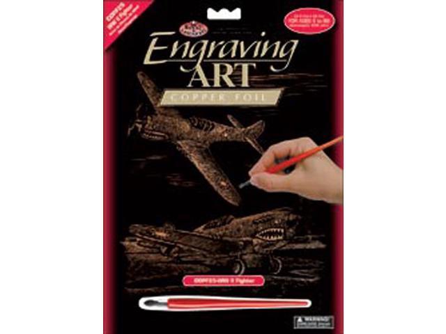 "Copper Foil Engraving Art Kit 8""X10""-WWII Fighter"