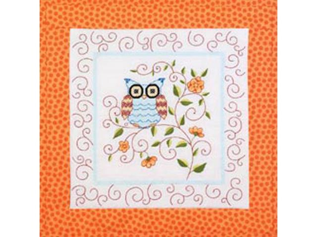Owl Quilt Blocks Stamped Cross Stitch-15