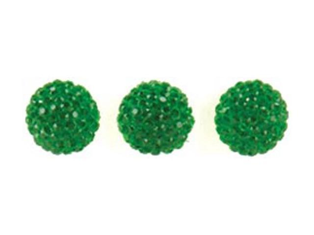 Candy Dots Crystals Self-Adhesive Faceted Gems 24/Pkg-Spinach
