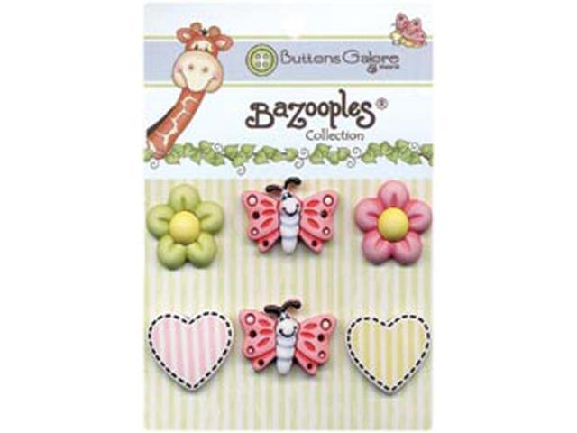 BaZooples Buttons-Flutterbug Medley