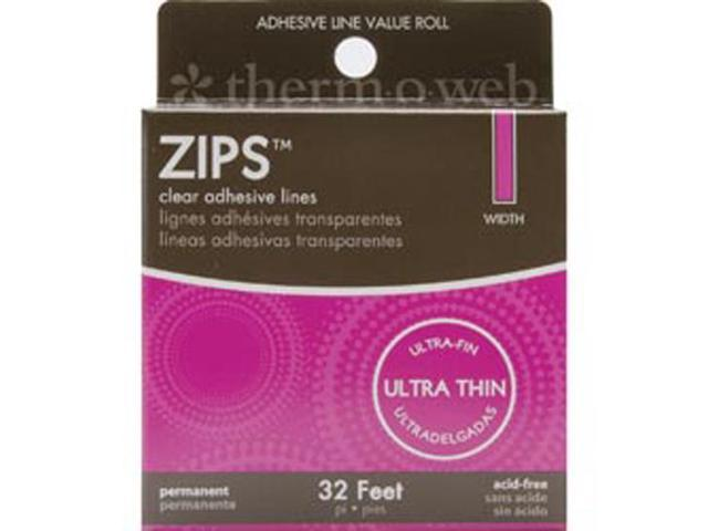 Zips Clear Adhesive Lines-Memory 1/8