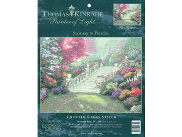 Thomas Kinkade Stairway To Paradise Counted Cross Stitch Kit-14