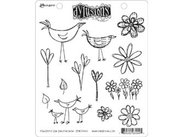Dyan Reaveley's Dylusions Cling Stamp Collection-How Does Your Garden Grow