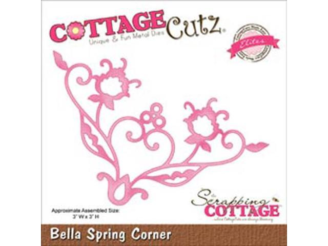 CottageCutz Elites Die-Bella Spring Corner