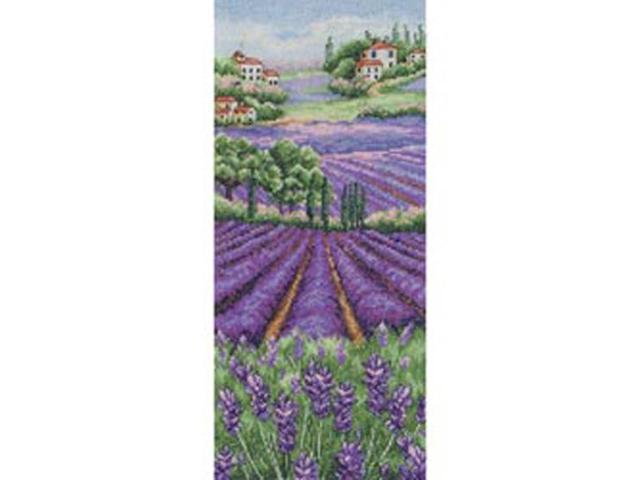 Provence Lavender Landscape Counted Cross Stitch Kit-12-1/2