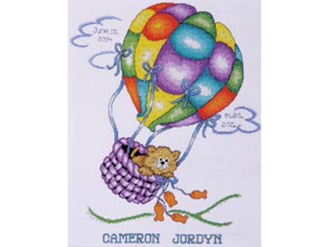 Balloon Cat Sampler Counted Cross Stitch Kit-11