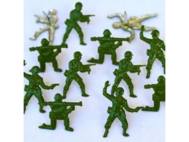 Eyelet Outlet Brads-Army Men 12/Pkg