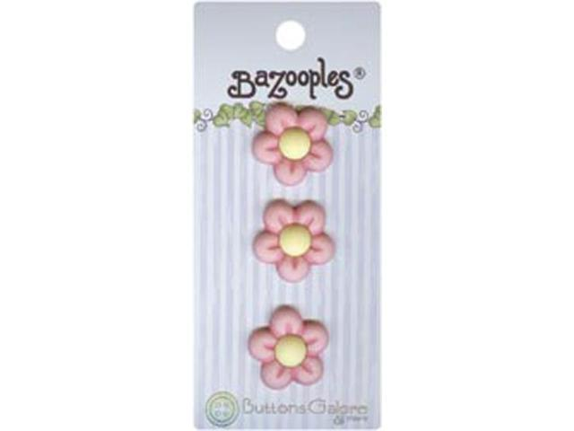 BaZooples Buttons-Pink Flowers