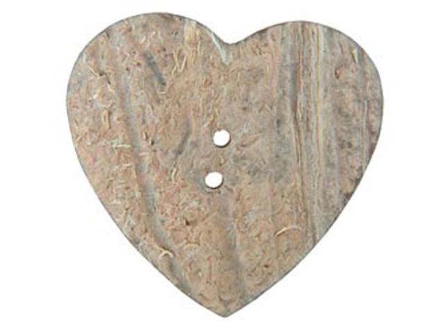 Handmade Coconut Button-Heart