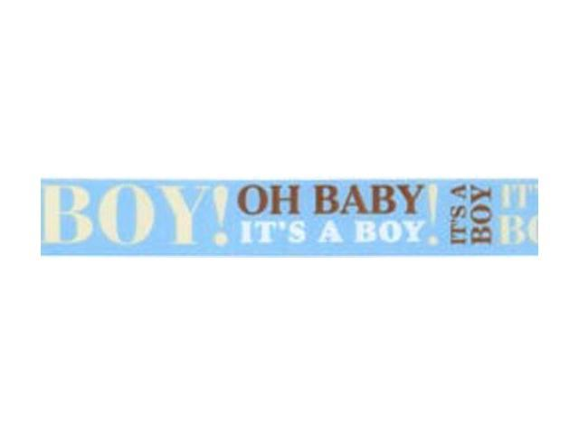 Baby Announcement Ribbon 7/8