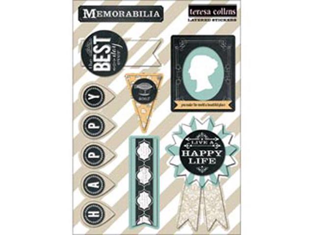 Memorabilia Layered Stickers 5