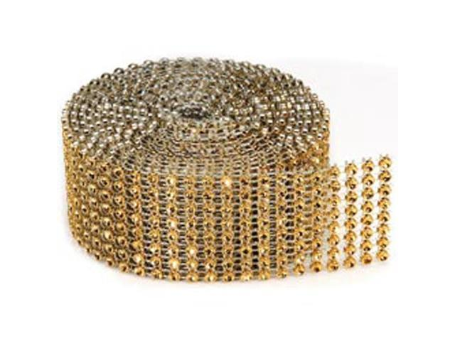 Bling On A Roll 3mm X 2yds-8 Row; Gold