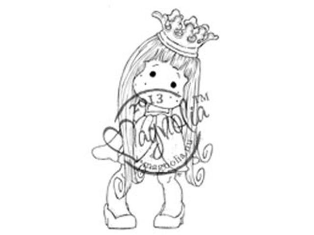Once Upon A Time Cling Stamp-Princess Tilda With Curl