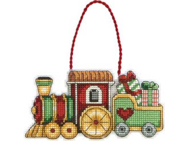 Susan Winget Train Ornament Counted Cross Stitch Kit-3-3/4