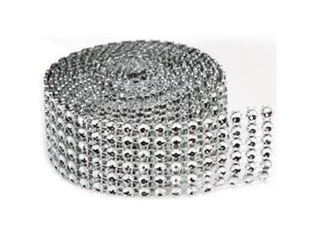 Bling On A Roll 4mm X 2yds-6 Row; Silver