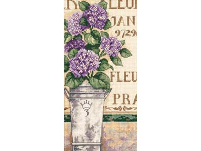 Gold Collection Petite Hydrangea Floral Counted Cross Stitch-4