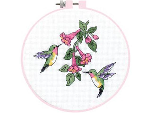Learn-A-Craft Hummingbird Duo Counted Cross Stitch Kit-6