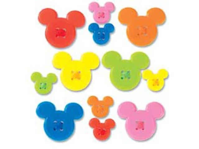 Disney Mickey Icon Adhesive Buttons-