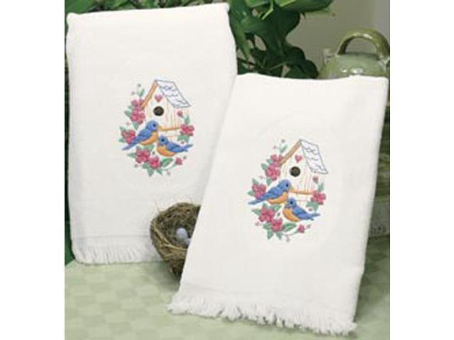 Birds Guest Towels Stamped Embroidery-16