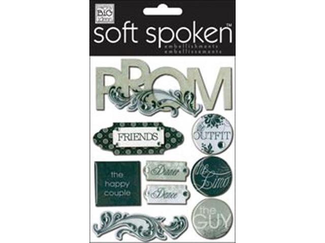 Soft Spoken Themed Embellishments-Black & White Prom