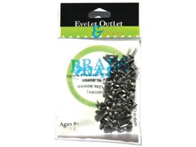Eyelet Outlet 4mm Round Brads 70/Pkg-Brushed Silver