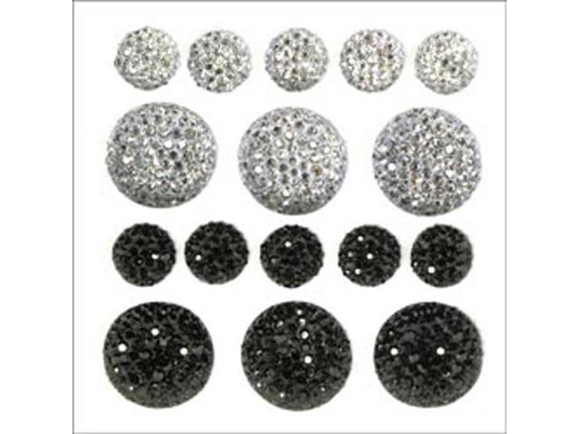 Sparklets Self-Adhesive Rhinestone Clusters-Ebony