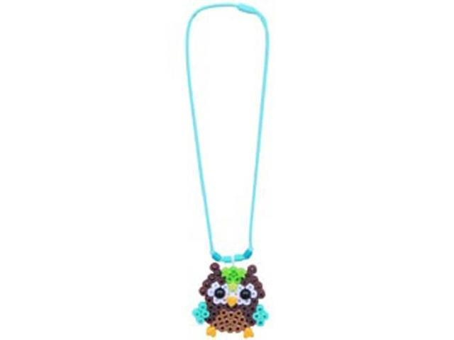 Perler Fun Fusion Fuse Bead Snap In Sampler-Owl Necklace