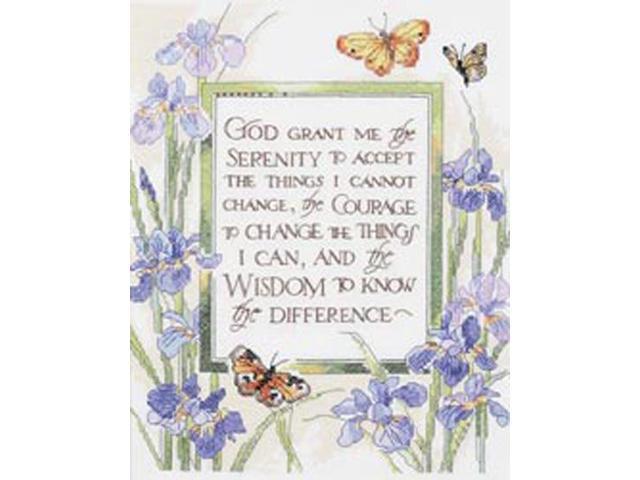 God Grant Me Serenity Stamped Cross Stitch Kit-11