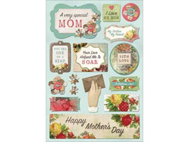 Mother Cardstock Stickers 5.5
