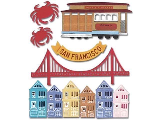 Jolee's Boutique Dimensional Destination Sticker-San Francisco