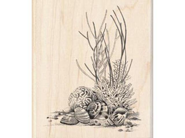 Inkadinkado Mounted Rubber Stamp-Coral