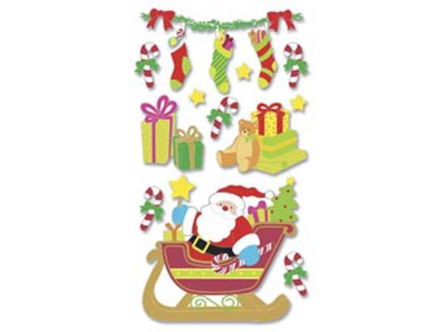 Jolee's Boutique Le Grande Dimensional Sticker-Santa Sleigh